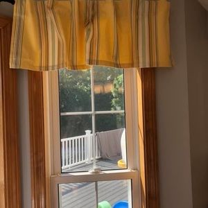 Pottery Barn Accents - Pottery barn Yellow Stripe Cafe Curtains
